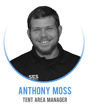 Anthony Moss - Tent Area Manager