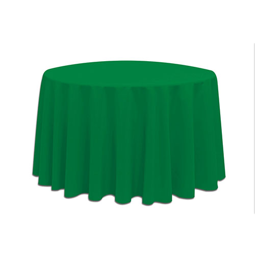 Linens 108 Inch Round Polyester Emerald Green