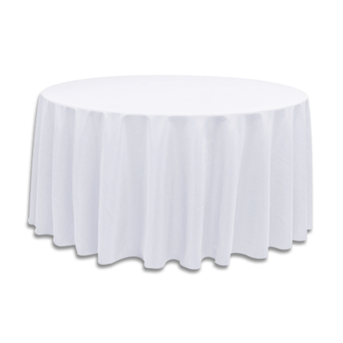 Linens 120 inch round polyester white for 120 inch round table linens