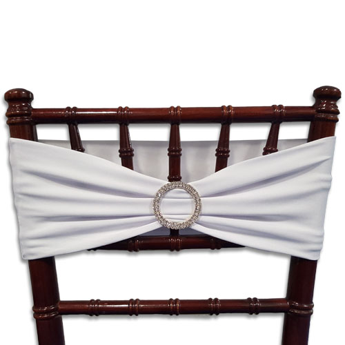 Linens Chair Band Buckle Silver