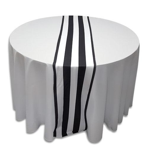 Linens : Table Runner: Polyester Black