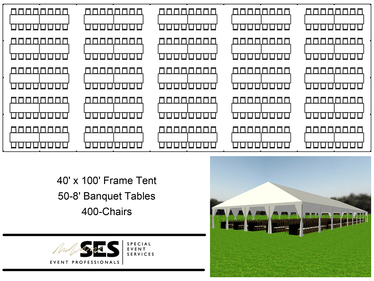 Tents Frame Tent 40 X 100