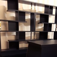 Black Bar Back Shelf: Double