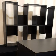 Black Bar Back Shelf: Single