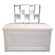 White Bar Back Shelf: Single