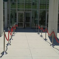 Stanchion & Red Rope