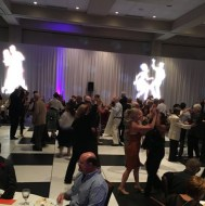 Black & White Dance Floor, Lighting, White Wentex 16'