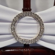 Silver Rhinestone Chair Band Buckle