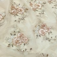 Linens/SquareOverlay/85square_RibbonMeshLace_Champagne_w
