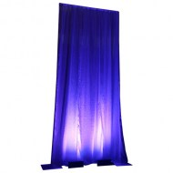 Drape: White Crinkle Taffeta 20' with uplighting