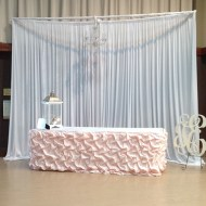 Pipe & Drape Chandelier Backdrop