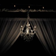 Pipe & Drape Canopy with Chandelier