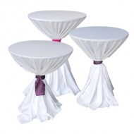 White Tablecloth: Tied with Sash