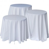 White Tablecloth: Drops to floor