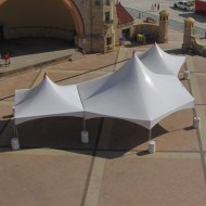 Hex Marquee Tent with 20' x 20' Tents