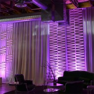 3D Wall Panels with Drape & Uplighting