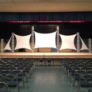 Truss with Spandex Stretch Screen